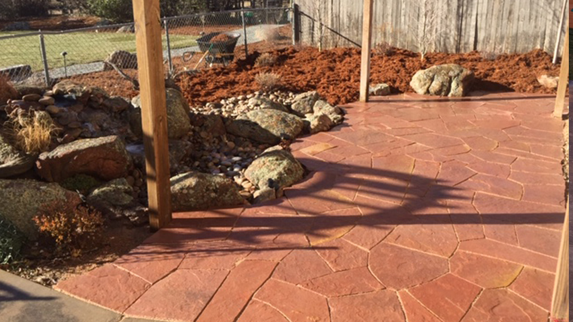 A new patio installed at a home in Fort Collins, CO.