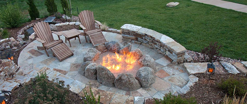 A fire pit in Loveland, CO.