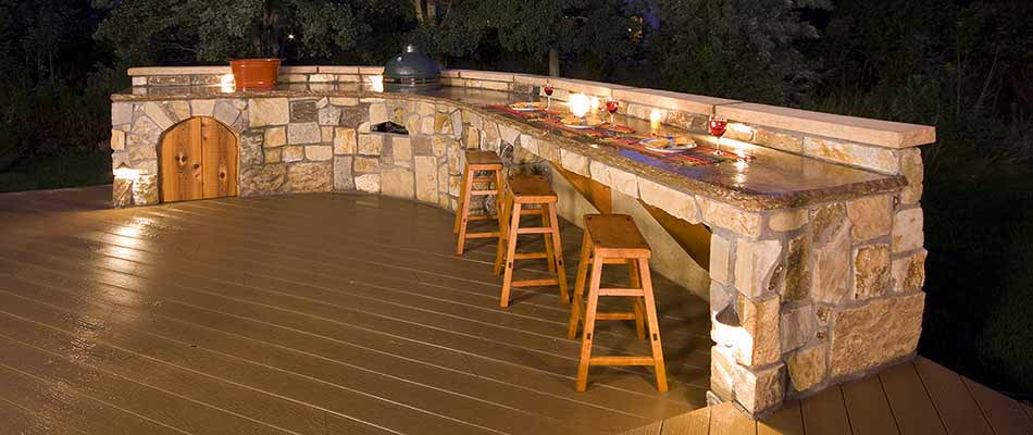 We built an outdoor kitchen in Fort Collins that included a grill and counter top, among other features.l