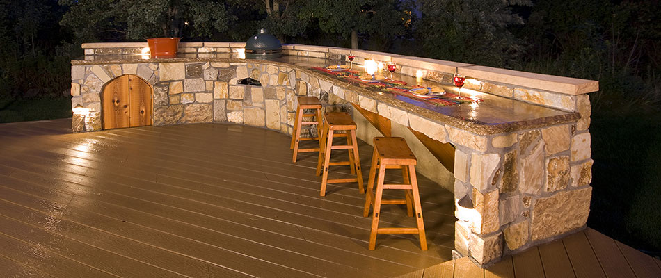 An outdoor kitchen that was customized for a Fort Collins, CO homeowner.