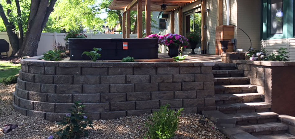 Our project for this Fort Collins customer included custom stone steps.