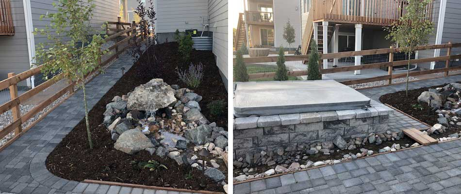 Project Case Study: New Patio, Retaining Wall, Fire Pit, & Water Feature in Fort Collins, CO